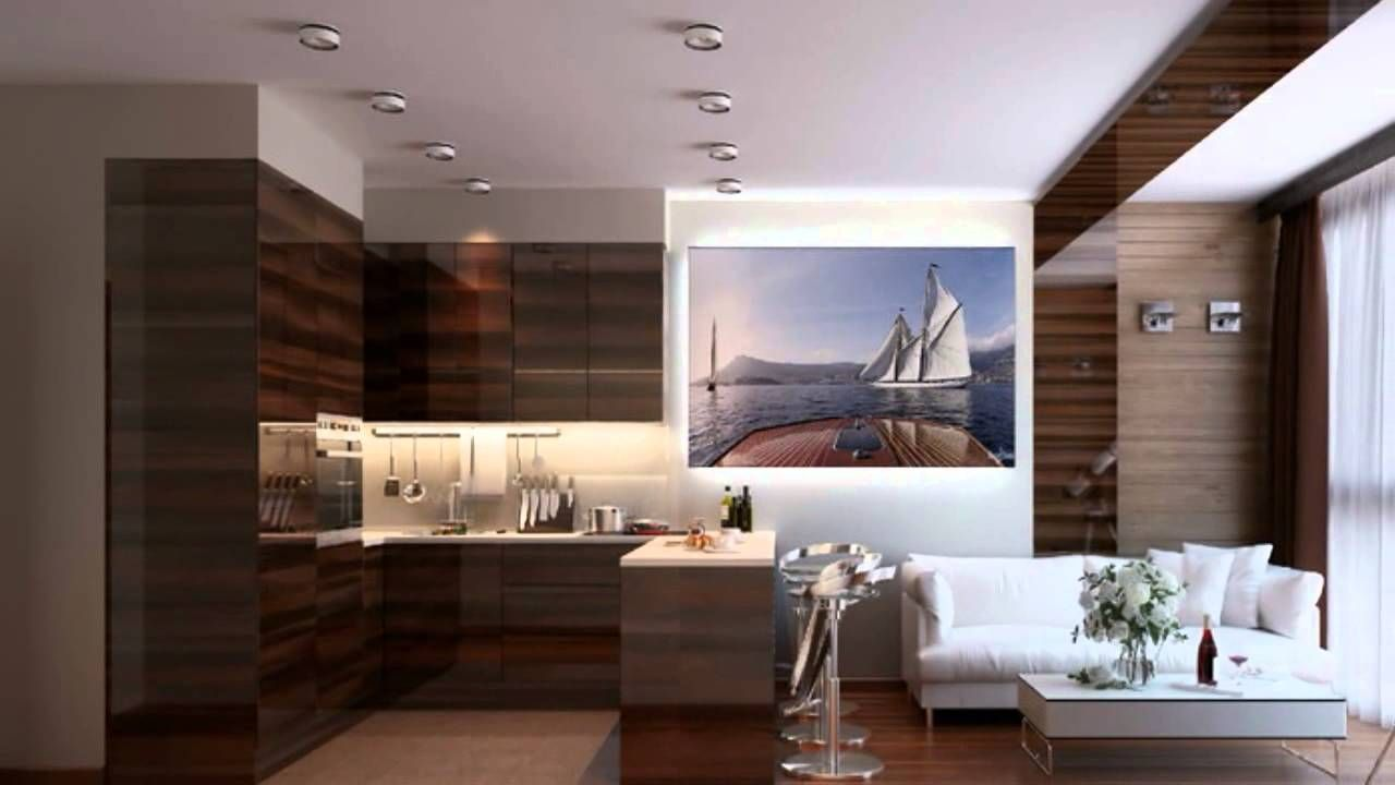 One Bedroom Flat Interior Design Tiny Modern Floor Plan 300 Square Feet Google Search Small