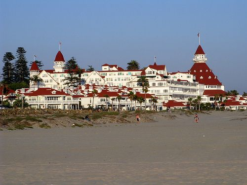 Hotel Del Coronado Island Is Located Just Two Miles From San Go And Offers One Of The Finest Beaches In World