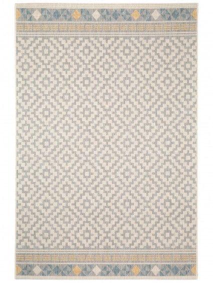 Polypropylen Teppich in outdoor teppich geometrisch taupe 140x200 cm 74 95 100