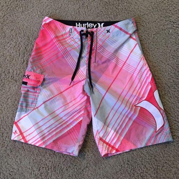 15afc14da8 Men's Hurley Swim Trunks NWOT Men's size 32, hot pink and white, Hurley  Swim Trunks/ Board Shorts. Hurley Shorts