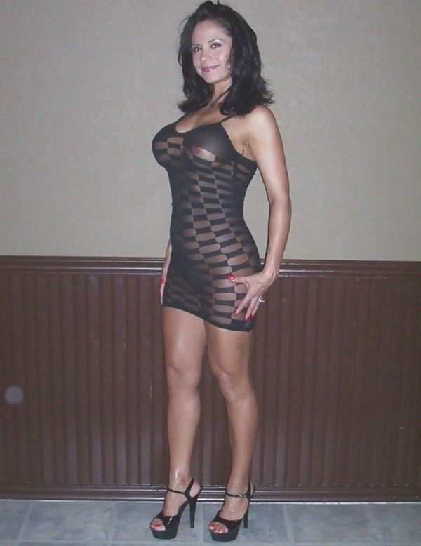 Wife in sexy see through clothing