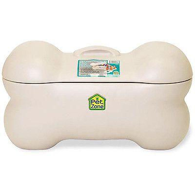 Large Pet Storage Bin Dog Toy Bone Supplies Paw Prints Puppy Zone Leashes  Food