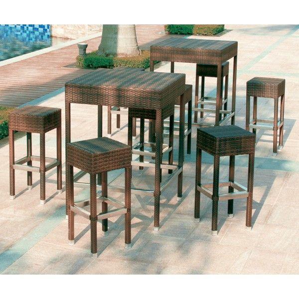 Tavoli Da Bar Per Esterno.Meraviglioso Set Composto Da Tavolo Con Piano In Vetro Temperato