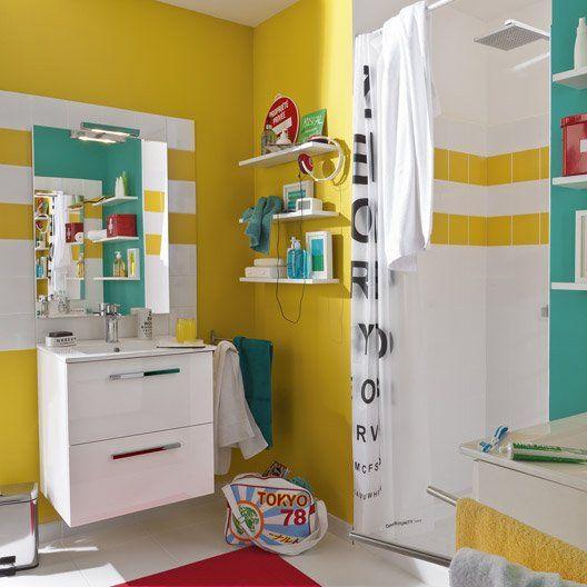 20 salles de bains colorées - Elle Décoration Bathroom designs and