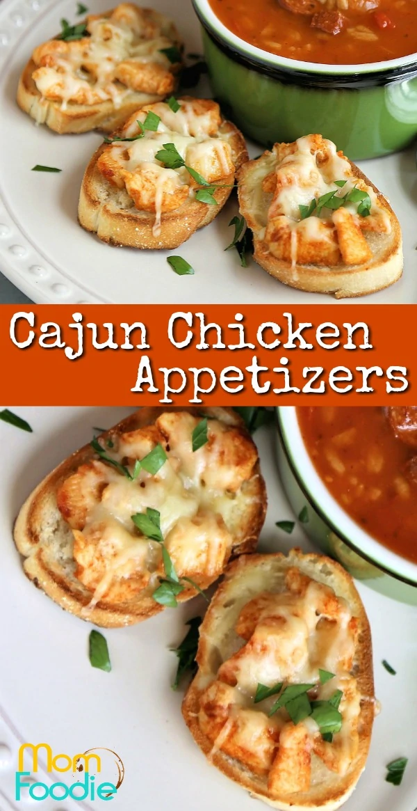 Cajun Chicken Appetizers - Mini Open Faced Sandwiches