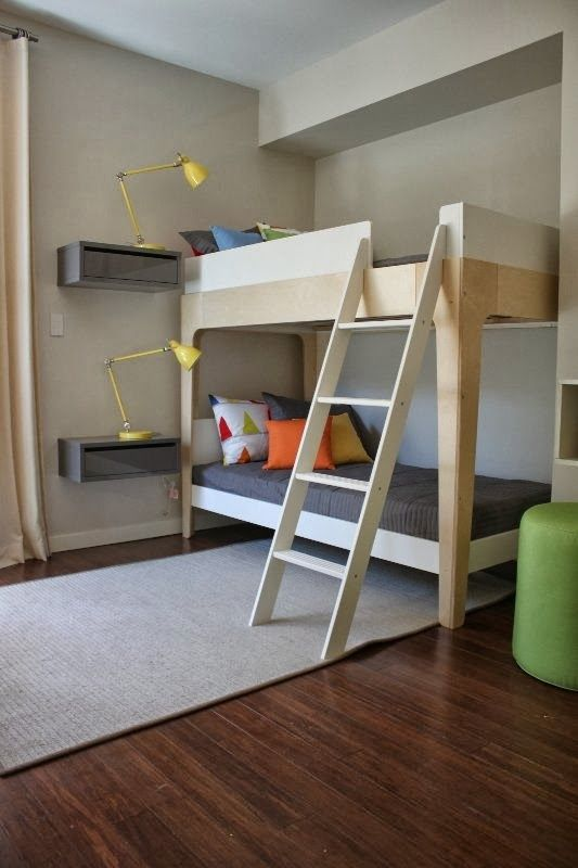 The Boo And The Boy Bunk Beds Floating Bedside Tables Great Idea