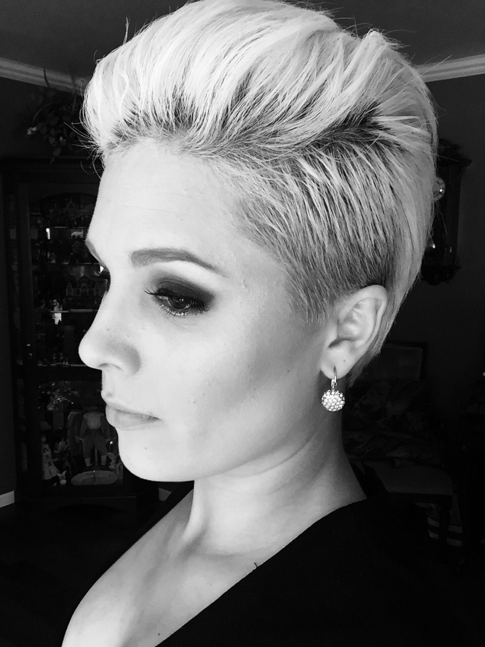 Undercut pixie style for a formal event twicelovedandmodernspot