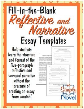 Narrative Essay And Reflective Essay Templates  FillInTheBlank