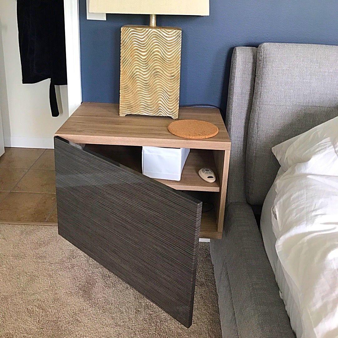 ikea besta hack floating nightstand rafferty manor in 2019 pinterest bedroom master. Black Bedroom Furniture Sets. Home Design Ideas