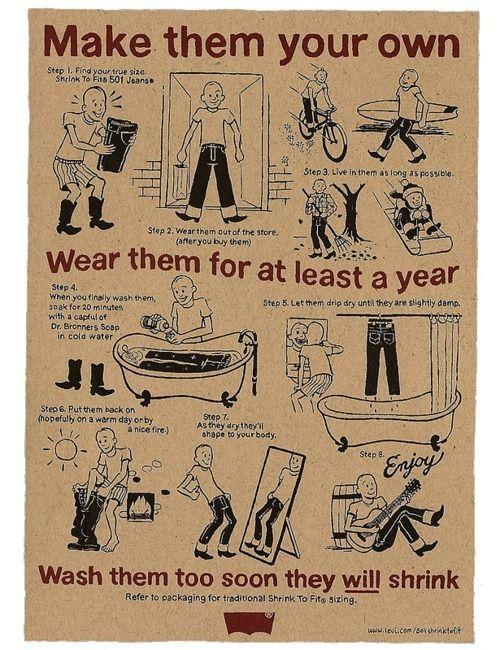 Vintage Levis Shrink To Fit 501 Jeans Ad Vintage Advertising