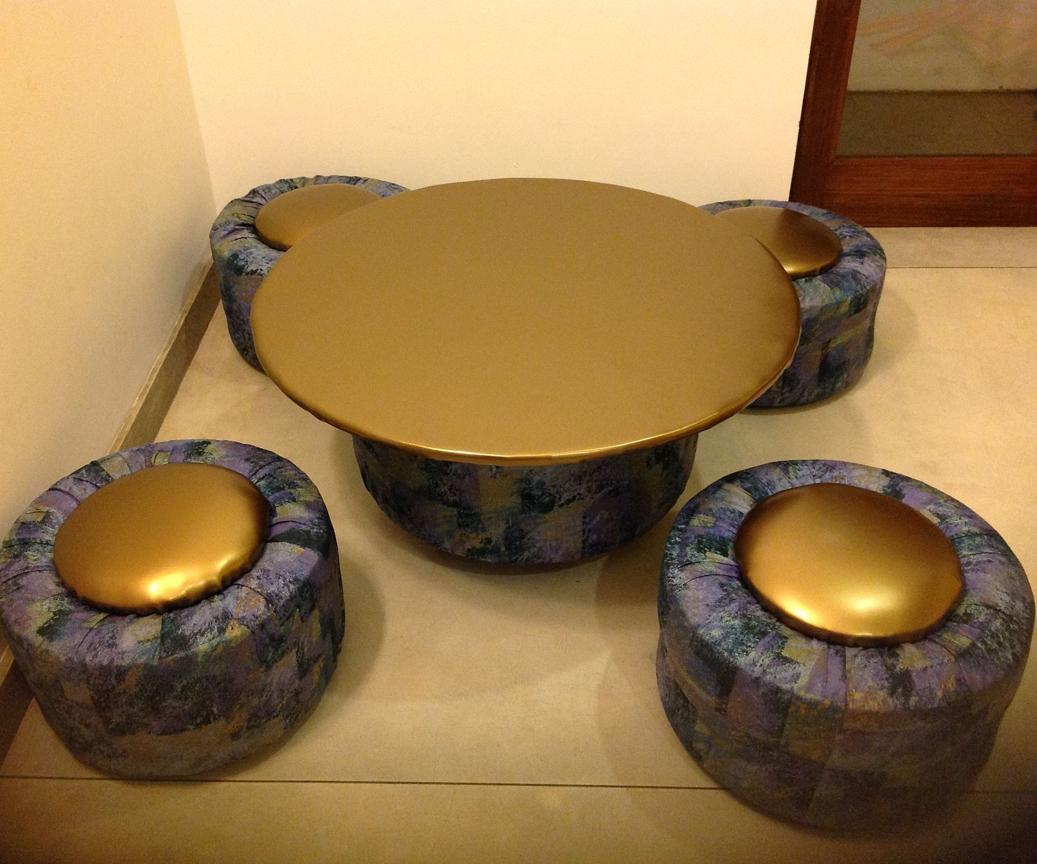 Tire table and ottomans for a playroom tire table ottomans and tire table and ottomans for a playroom geotapseo Image collections