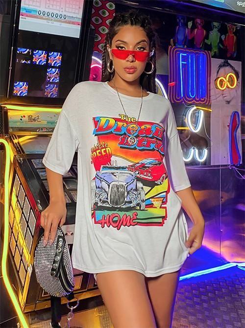 Camiseta Dream Graphic – mediana  – Moda