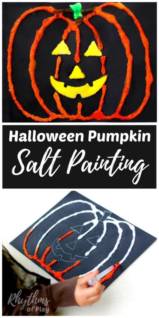Halloween Pumpkin Art Salt Painting