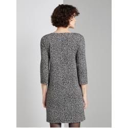 Tom Tailor Damen Kleid mit Leo-Print, schwarz, gemustert, Gr.46 Tom TailorTom Tailor