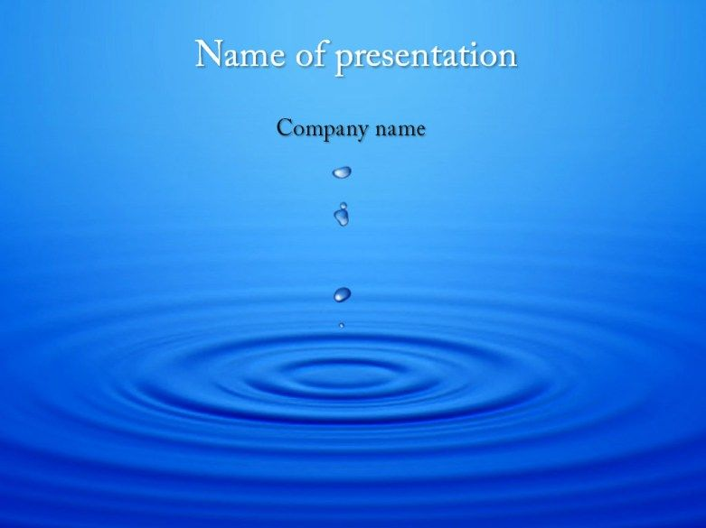 Dripping water powerpoint template Design Pinterest Template - water powerpoint template