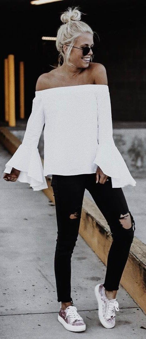8499bcb8d0b roressclothes clothing ideas  women fashion black distressed jeans ...