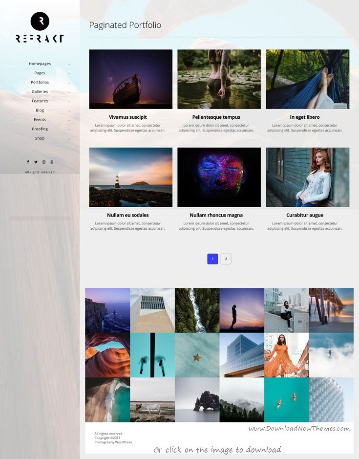 Refrakt is clean and modern design responsive WordPress theme for ...