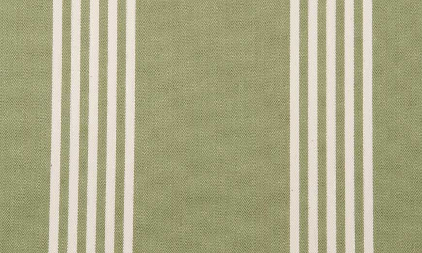 Deckchair Oxford Stripe Sage, Ian Mankin