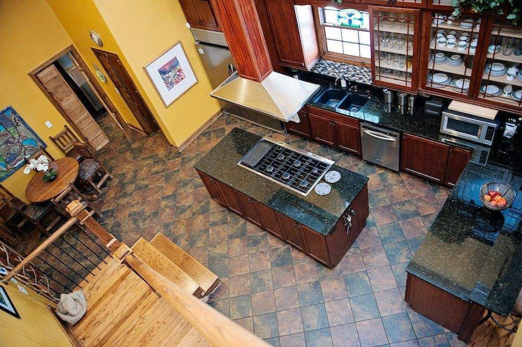 View of Kitchen From Loft