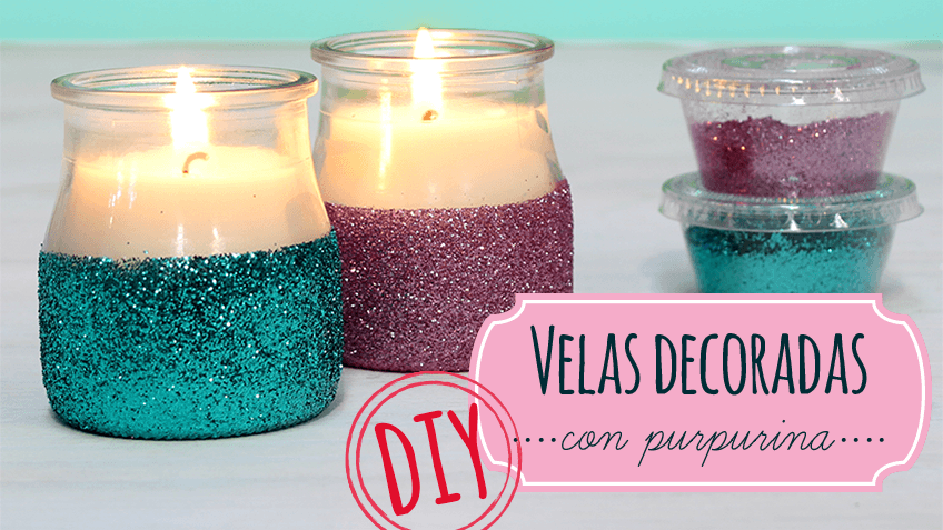 cmo hacer velas decoradas con purpurina - Velas Decoradas
