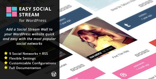 cool Simple Social Stream for WordPress (Social Networks ...