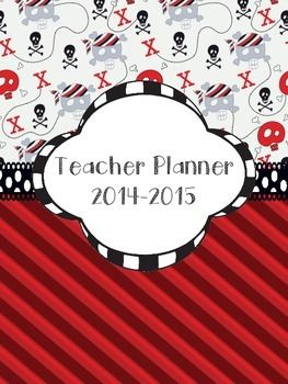 Pirate Skull Teacher Planner Binder Covers and Spines 2014