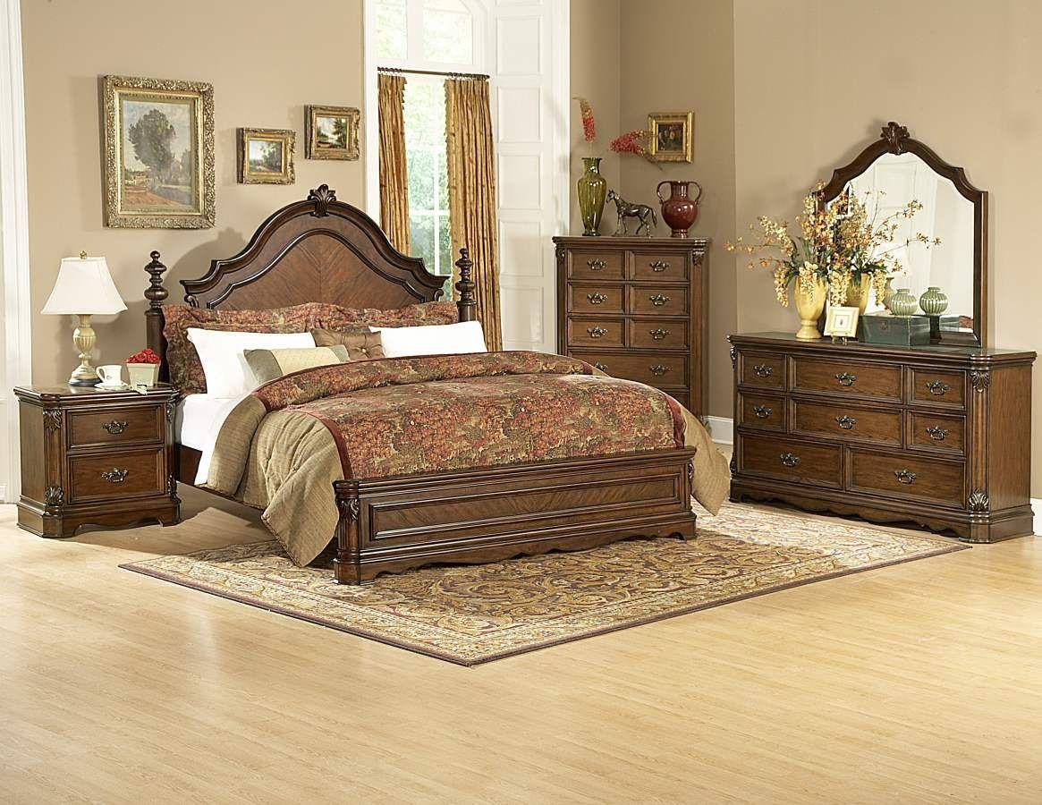 Master bedroom furniture  Montrose Brown Cherry Master Bedroom Set  Home Elegance  Pinterest