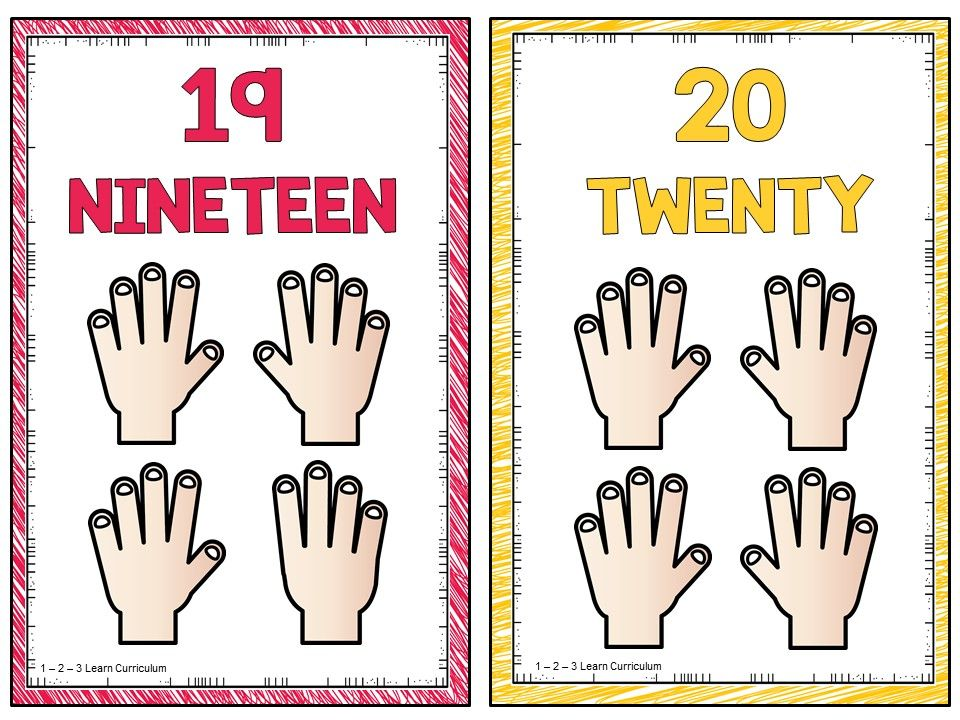 I added some small counting hands posters to 1 2 3