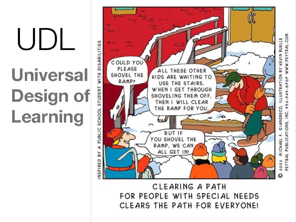 Udl Classroom Design ~ This comic about universal design applies to inclusion in