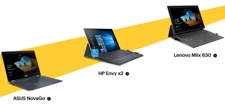 Asus HP and Lenovo's Always Connected PCs get free