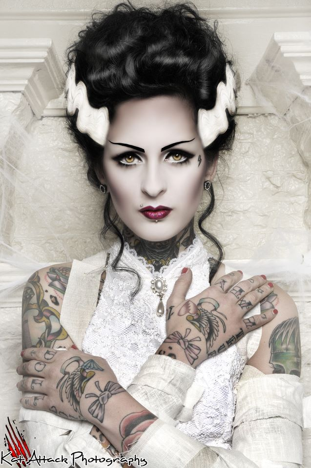 Bride of Frankenstein make-up | Frankenstein\'s | Pinterest ...