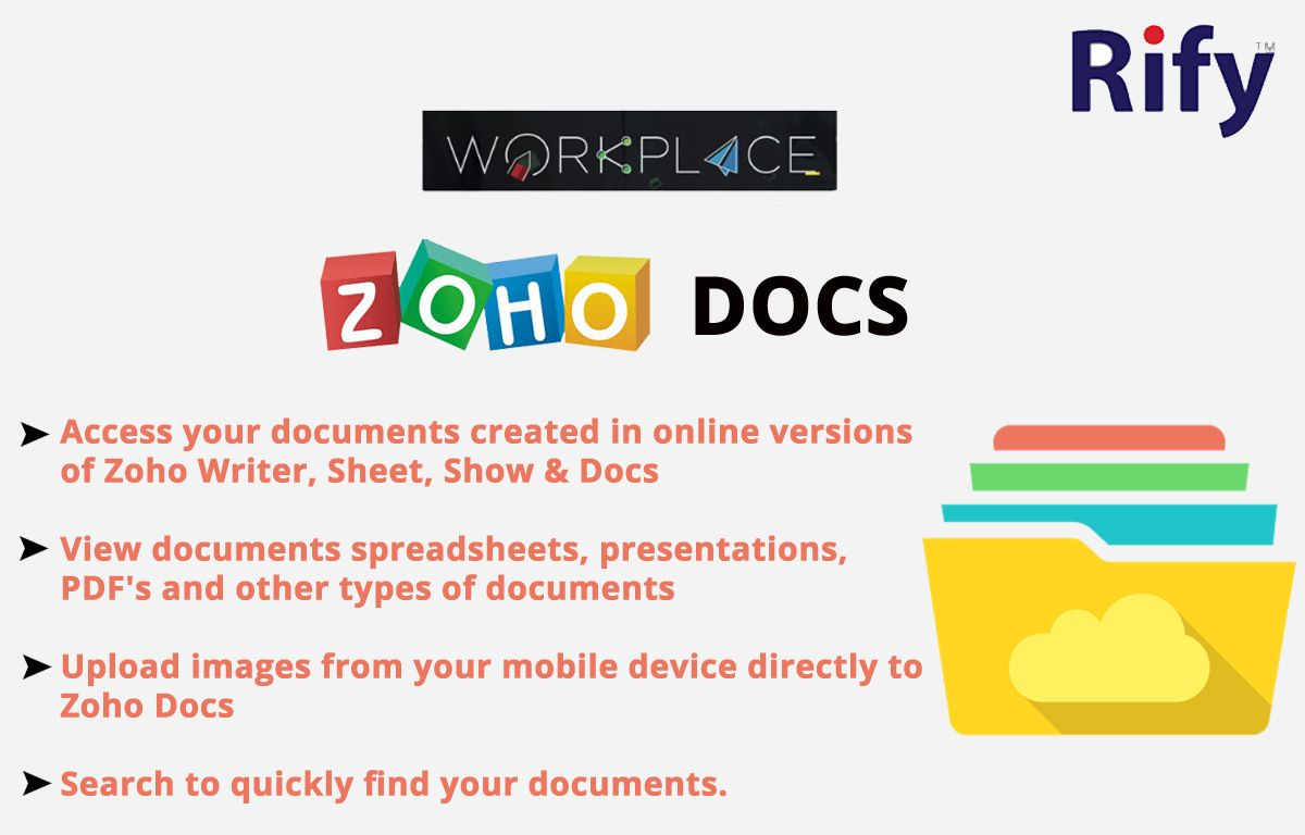 Pin By Rify Hosting Private Limited On Zoho Workplace Document