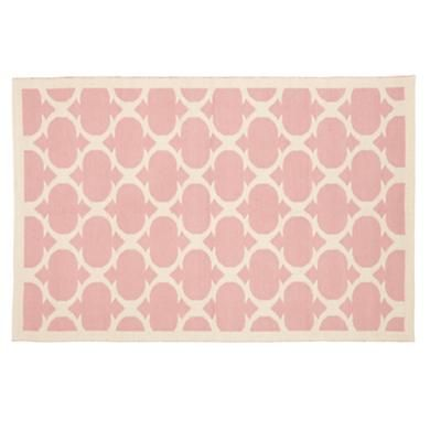 Kids' Rugs: Kids Pink Woven Cotton Rug in All Rugs - I want this rug for her nursery!