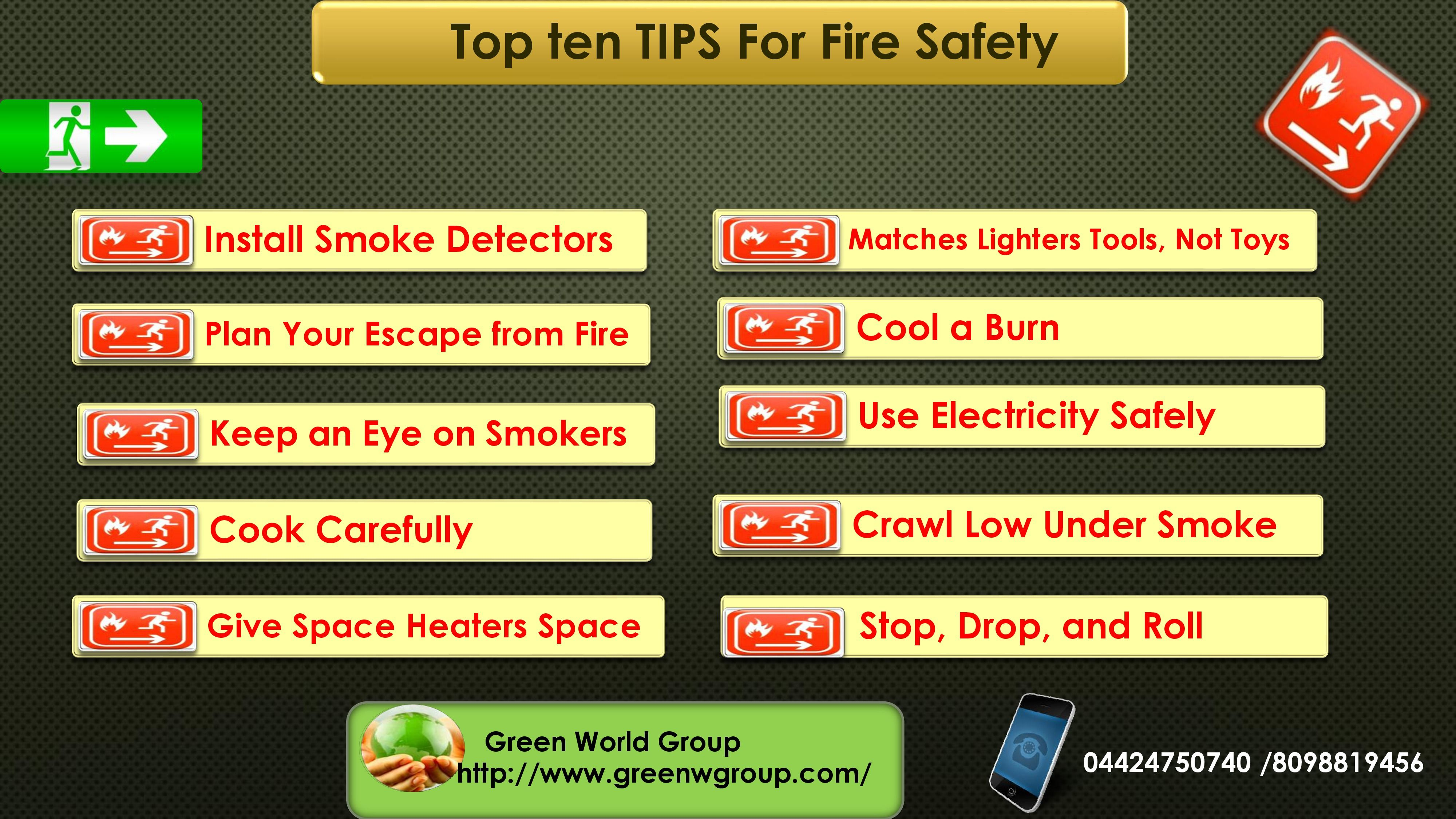 Most top ten tips for fire safety .For more fire safety
