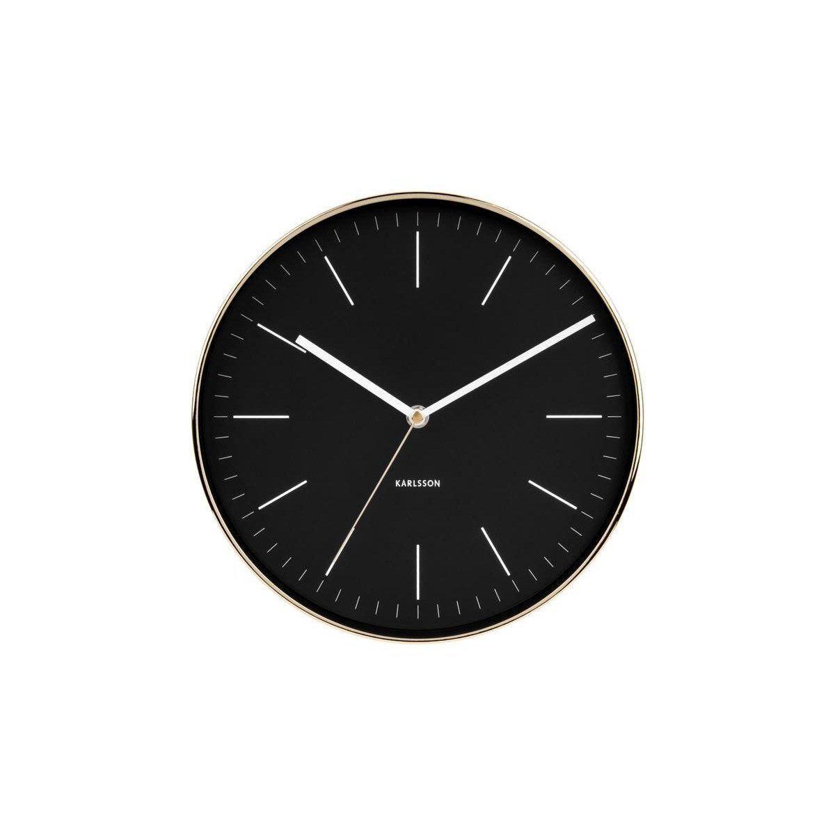 Horloge Minimal Ronde Noirbeige Karlsson L275 X H275