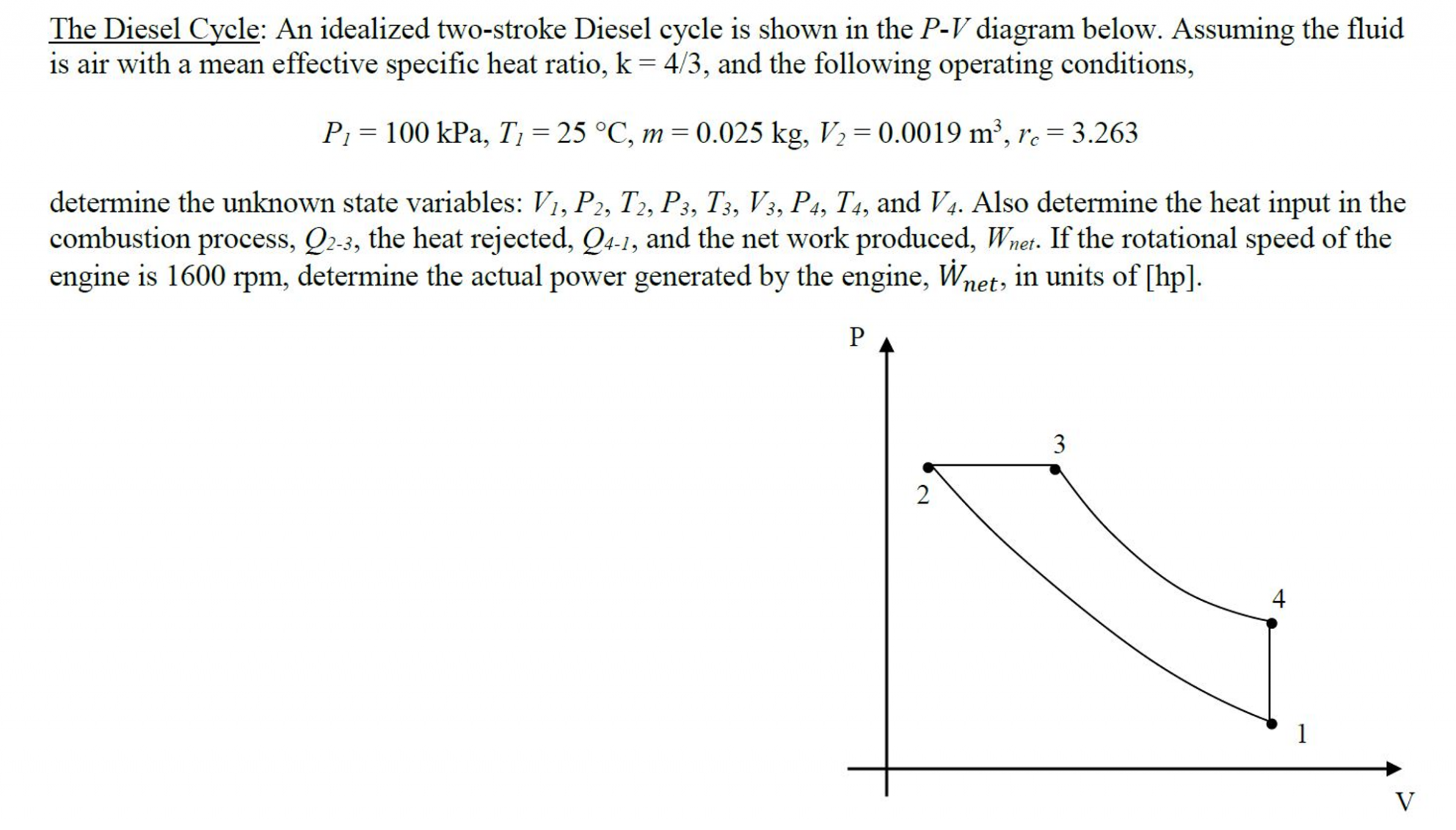 7 Stroke Diesel Engine Pv Diagram Di 2020