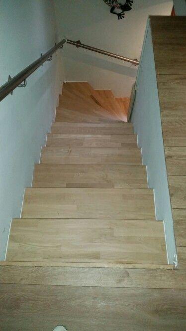Treppe verkleidung Holz Eiche