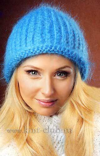 женская вязаная шапка спицами вязание Pinterest Knitted Hats
