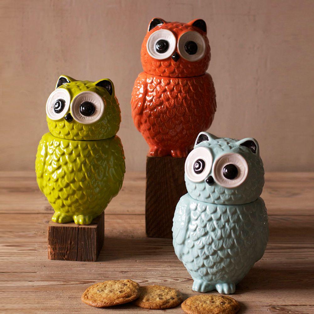 Owl Cookie Jars   Dotandbo.com