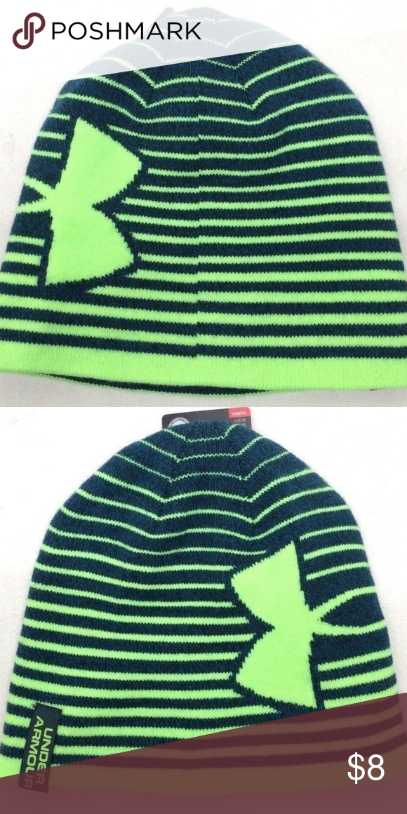 8a92097e33d79 Under Armour Boy s Billboard 2.0 Nova Beanie Teal Lime Beanie Soft knit  fabric delivers all-day comfort   warmth Material wicks sweat   dries  really fast ...
