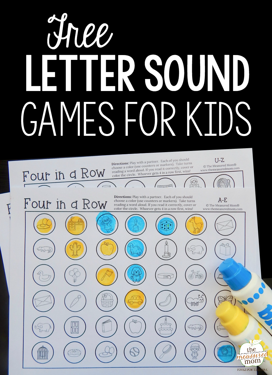 Use these free games for some letter sounds review