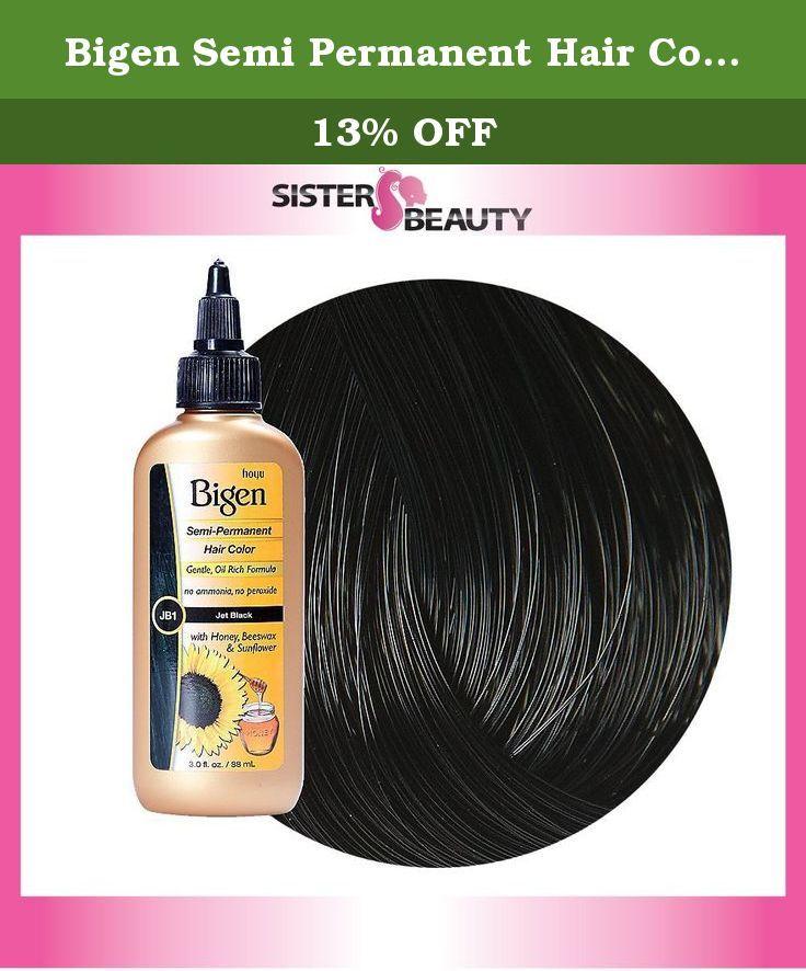 Bigen Semi Permanent Hair Color Jet Black 30 Ounce Gentle Oil