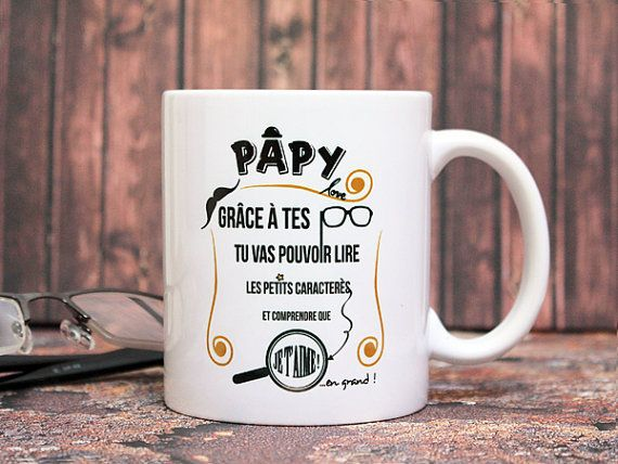 mug tasse personnalisable papy love cadeau pour grand p re personnaliser texte et. Black Bedroom Furniture Sets. Home Design Ideas