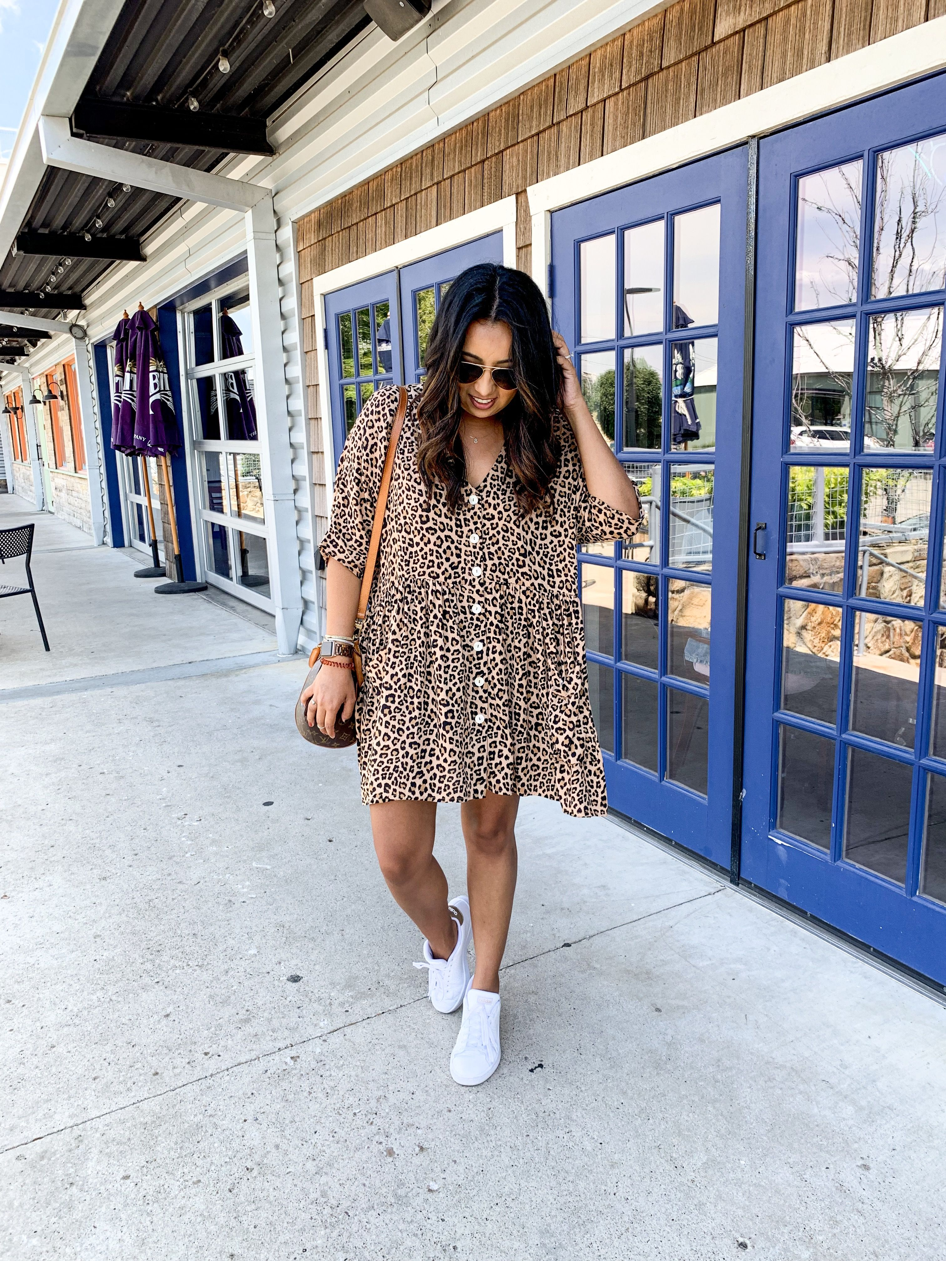 Casual Dress Outfit Ideas Dress With Sneakers Casual Dress Outfits Dress With Sneakers Leopard Print Outfits [ 4032 x 3024 Pixel ]