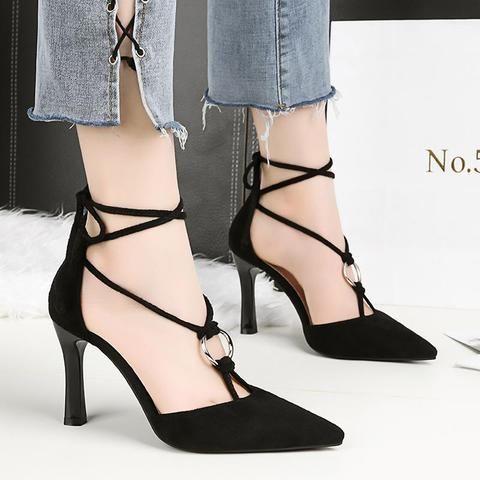 hengscarying women summer gladiator 8cm high heels buckle