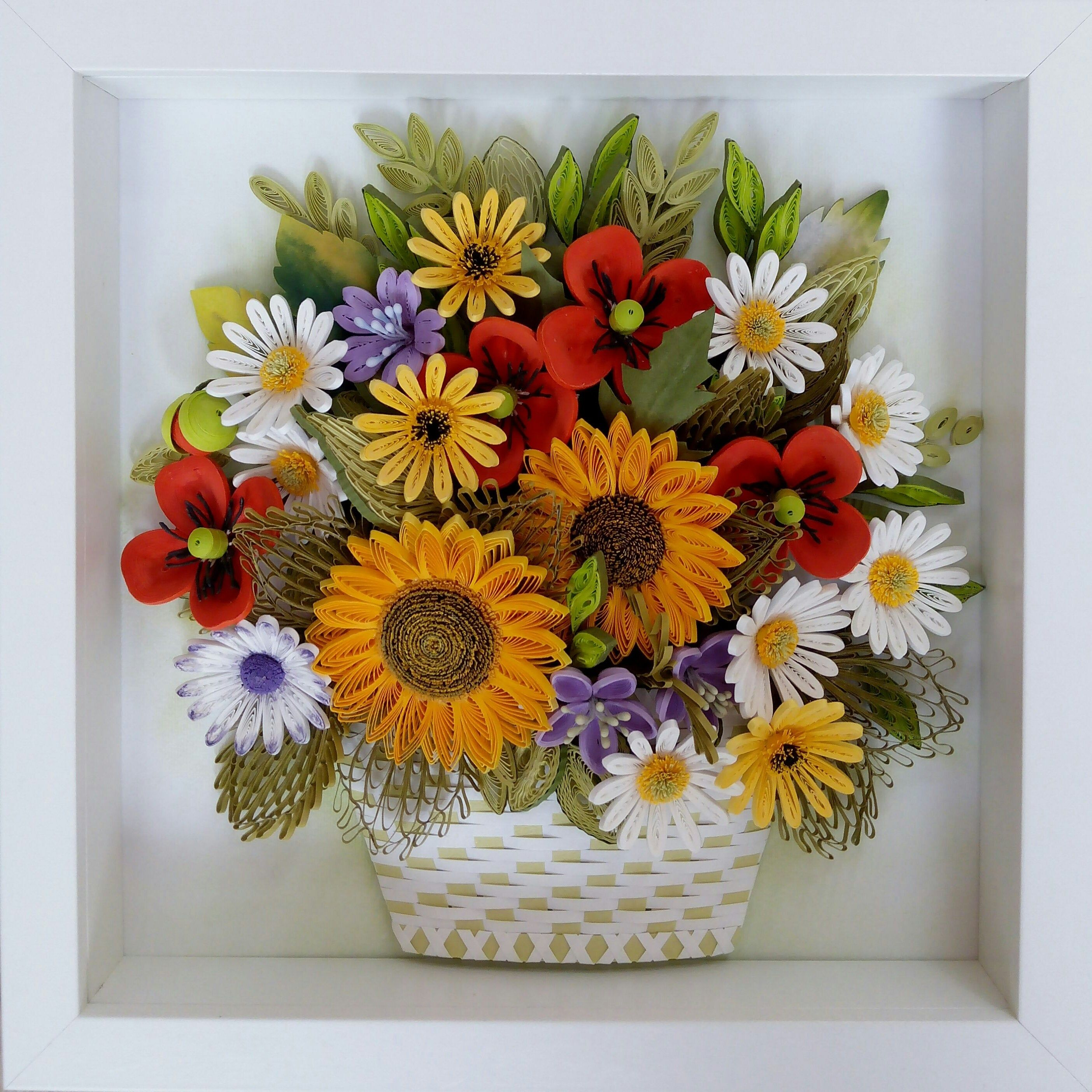 Quilling Art 3d Paper Quilling Bouquet Of Meadow Flowers In Etsy Paper Quilling Flowers Quilling Art Paper Quilling