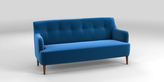 Best Buy Carter Large Sofa 3 Seats Matt Velvet Bright Blue 400 x 300