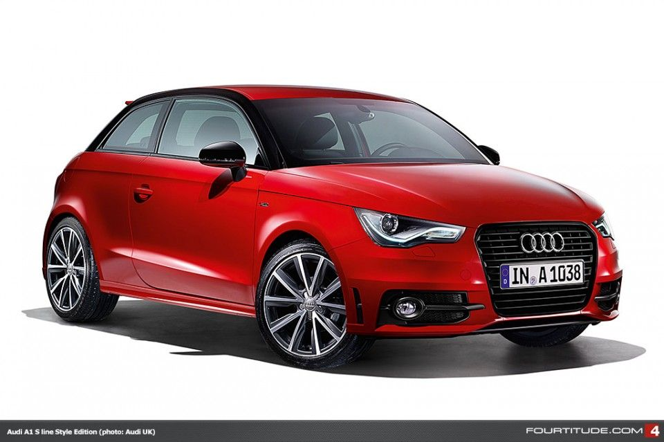 Audi A1 S Line Style Edition Paints The Town Red White Silver