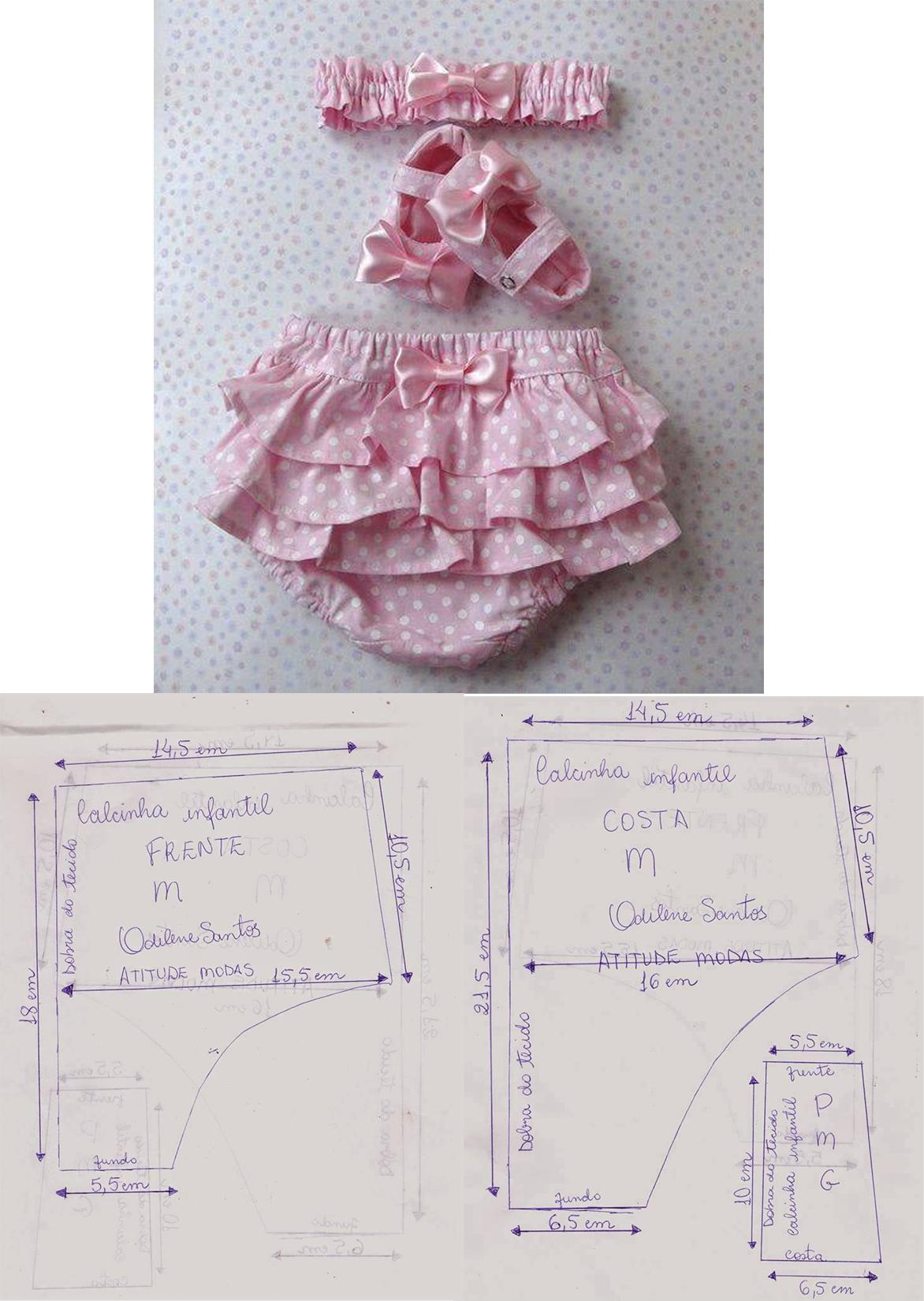 Hermosas Panties con vuelitos -Patrones- | Vestidos de niña | Baby ...