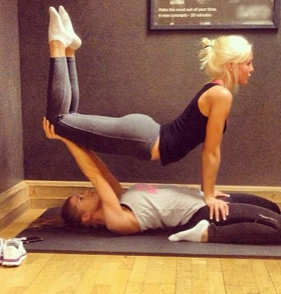 I Like This Two Man Yoga Poses Love These Is How Tought To My Youngest Daug